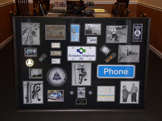 Picture Of Thompson Telephone Shadow-box